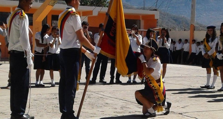 EVENTO DE JURAMENTO A LA BANDERA PARROQUIA CASANGA.